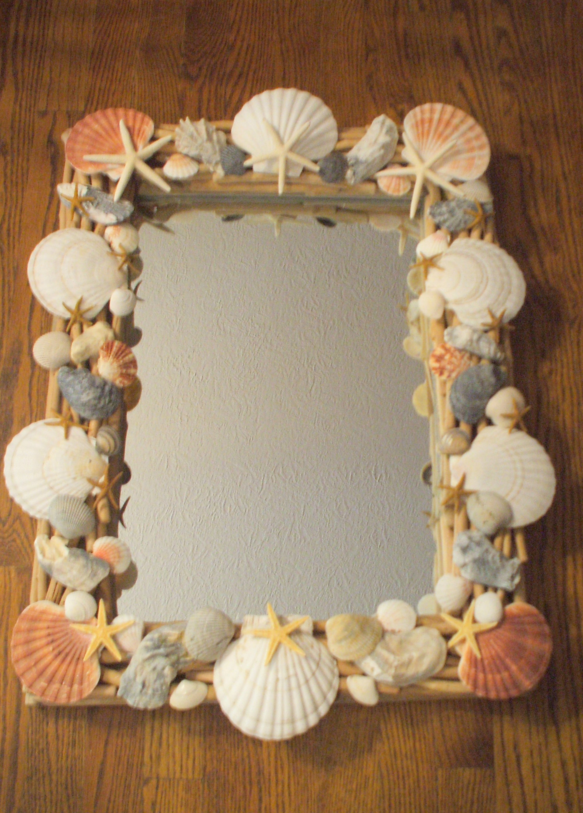 shell crafts ideas craft seashell embellished mirror the enchanted manor 2922