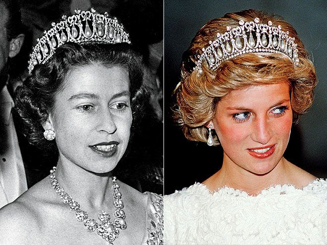 Other precious tiaras in the Queens collection include the Strathmore Rose Tiara which belonged to the Queen Mother and was a present from her parents in