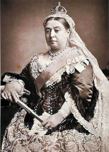 Queen Victoria wearing her crown