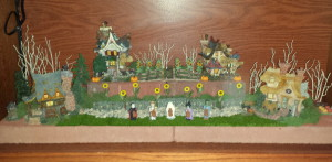 Boyds Bears Bookcase - Boyds Village fall decorations