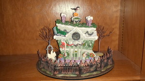 Family room bookshelves  - Haunted Mansion Holiday