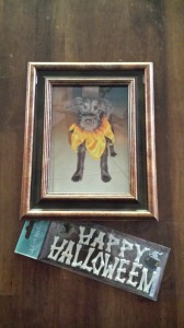 Halloween picture frame supplies