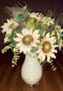 Kitchen autumn floral arrangement