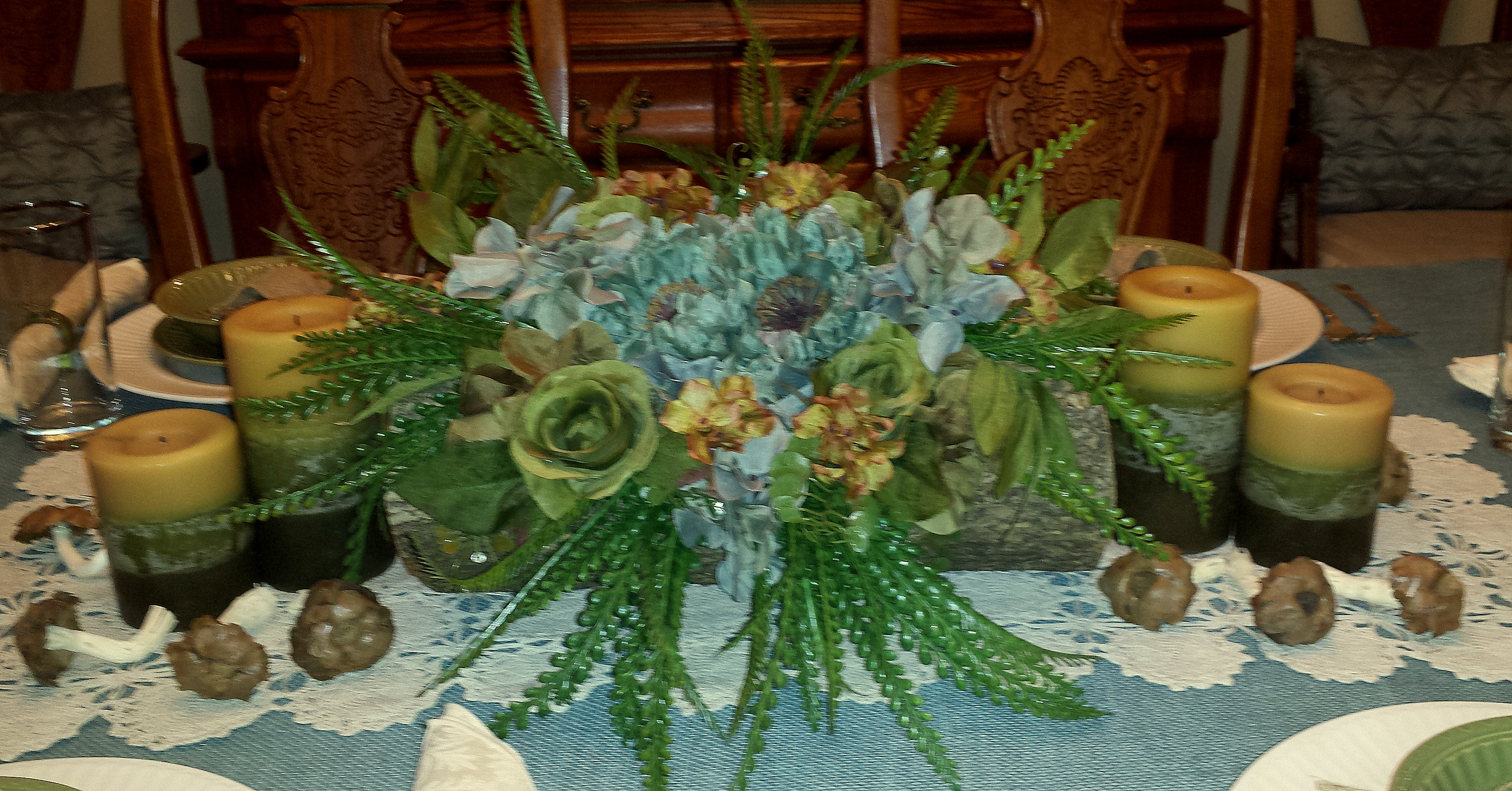Craft rustic table centerpiece the enchanted manor