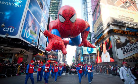 when was the first balloon used in the Macy s parade The