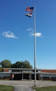 Walt Disney Elementary School flagpole