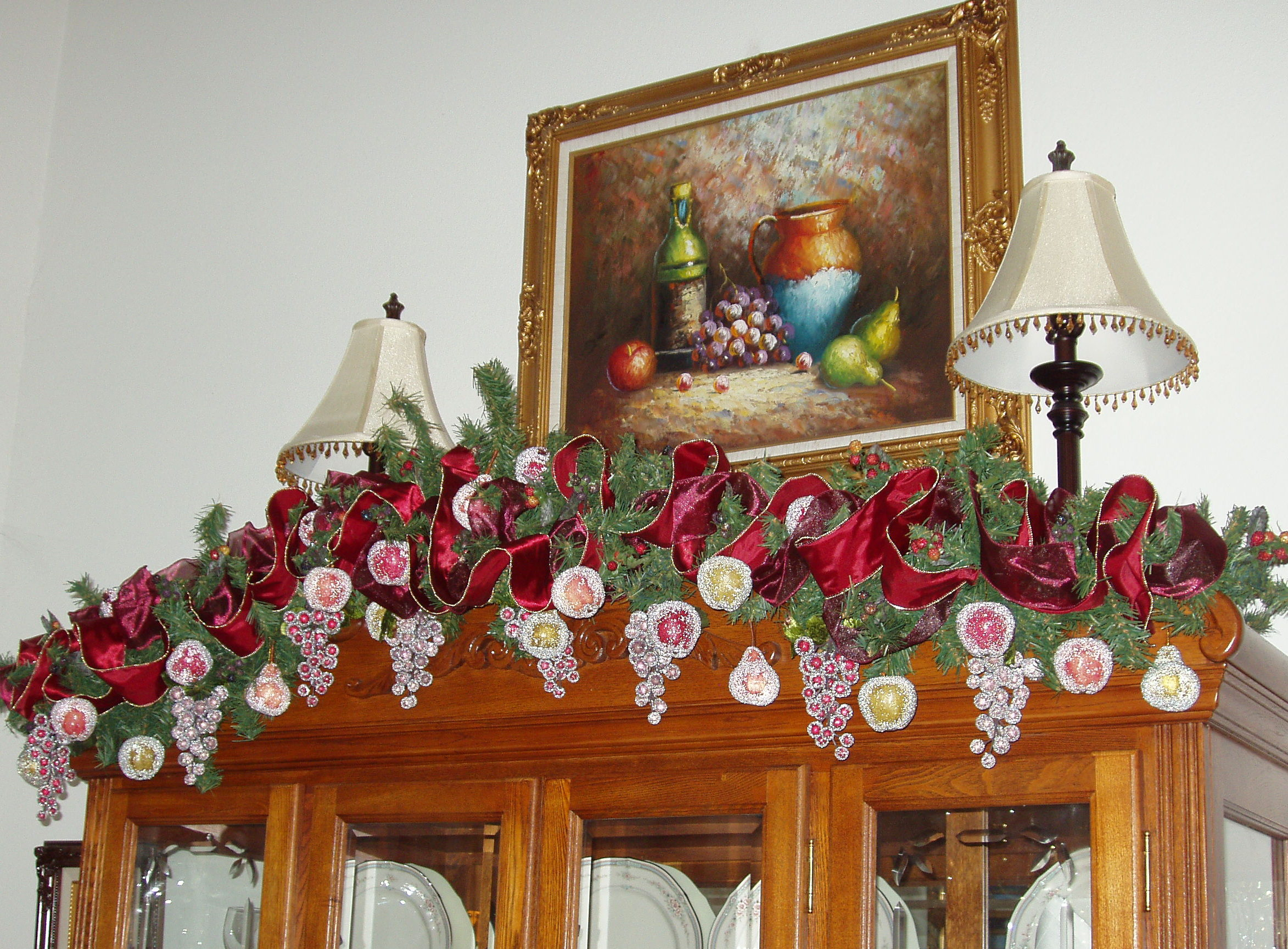 Decorating A China Cabinet For Christmas The Enchanted Manor