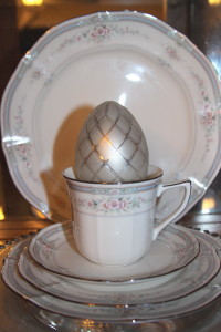 2013 Easter china cabinet closeup 2