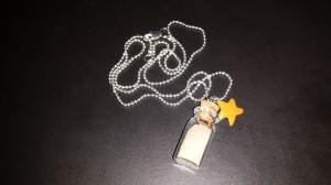 Beach-themed bottle necklace