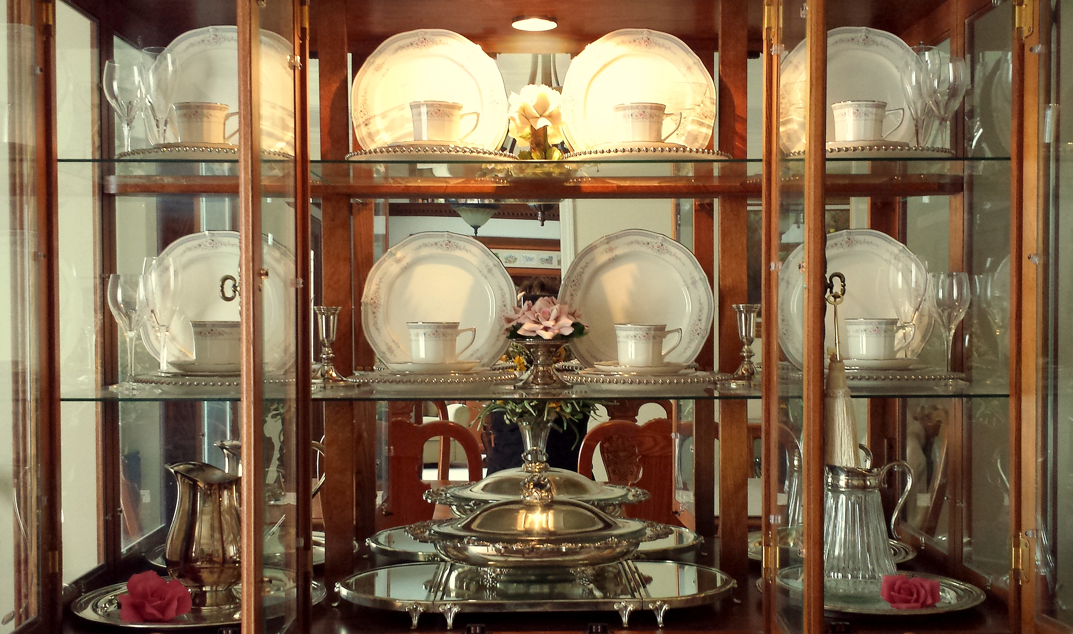 Decorating a china cabinet for the seasons   The Enchanted ...