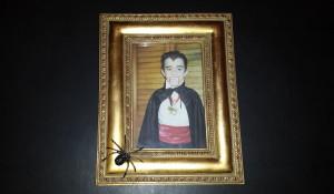 Framed Halloween spider pin