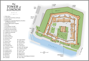Tower of London - map