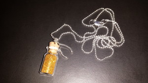 Wish bottle necklace