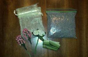 Floral sachet 1 - supplies