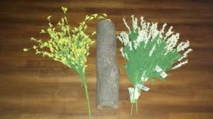 Spring Mantel Decoration - supplies