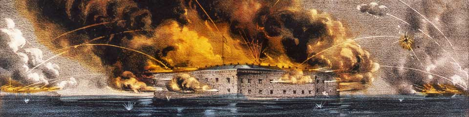 Battle of Fort Sumter - Currier and Ives lithograth