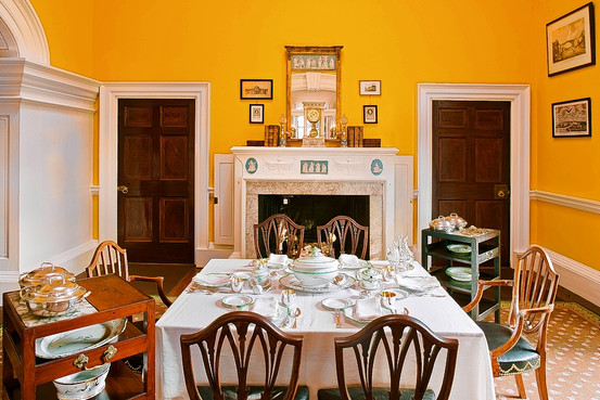 Home of Thomas Jefferson The Enchanted Manor : Monticello Dining Room from theenchantedmanor.com size 553 x 369 jpeg 90kB