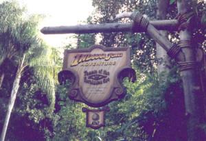 Indiana Jones sign Nov 97