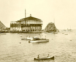 Catalina Casino being constructed