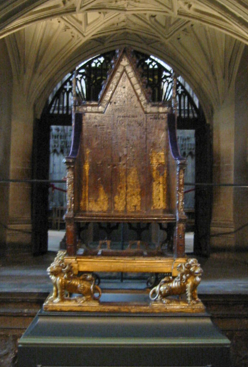 Coronation Chair Or King Edwards Chair Wooden Throne 1297 ... |Westminster Abbey Throne