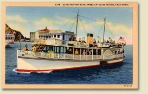 Glass Bottom Boat vintage postcard
