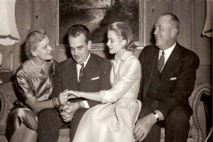 Grace Kelly engagement to Prince Rainier