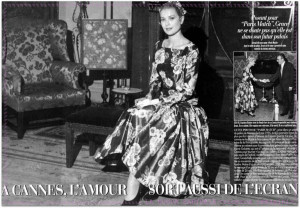 Grace Kelly first meeting with Prince Rainier - magazine article