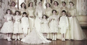 Grace Kelly with her bridesmaids