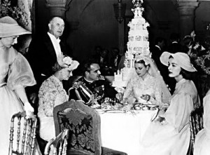 Wedding of Prince Rainer and Grace Kelly - reception