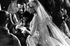 Wedding of Prince Rainer and Grace Kelly - religious service 1