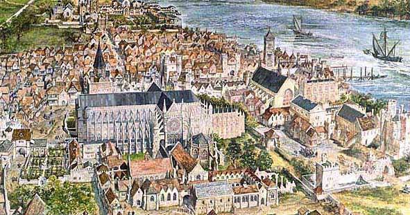 Westminster Abbey in 1560