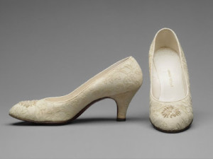 Grace Kelly bridal shoes