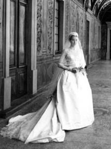Grace Kelly wedding dress front