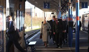 Sandringham - 2013 Queen Elizabeth traveling to Norfolk by train