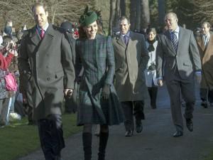 Sandringham Christmas - 2013 royals walk to church 1