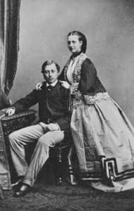 1862 Princess Alexandra with Prince Edward