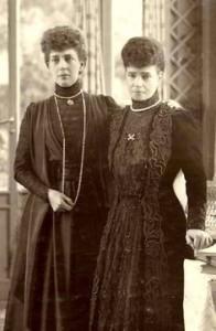 Dowager Queen Alexandra and her sister Dowager Empress Dagmar