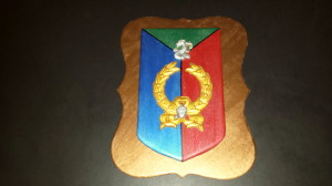 Heraldic shield - final with silver paint