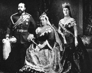 Prince Edward and Princess Alexandra with Queen Victoria