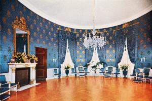 Blue Room - before Kennedy restoration - Truman admin.