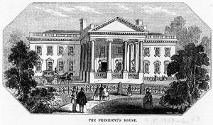 The President's House - North Portico engraving