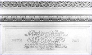 White House - inscription by John Adams