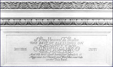 The John Adams Inscription On Mantel Of State Dining Room