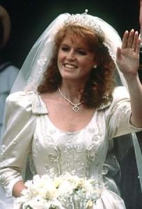 Duchess of York wedding dress closeup 1