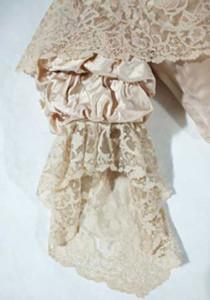 Queen Victoria wedding dress closeup sleeve