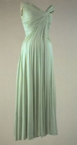 Celedon evening dress 1