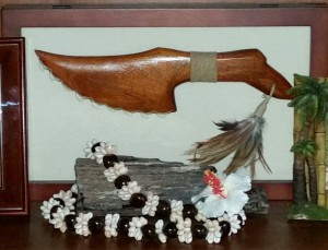 Hawaiian weapon and lei