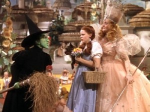 The Wicked Witch with Dorothy and Glinda