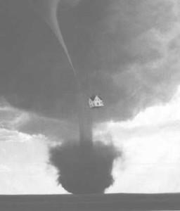 Tornado with house