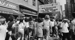 Beatles 1st appearance - outside the theater